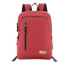 Tas Ransel Import / Tas Punggung / Ransel / Backpack / Tas Sekolah / Travel Bag ( 3P Fashion Import BackPack Model Resleting Samping ) - Red