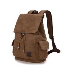 Beli Tas Ransel Kanvas Impor Backpack Canvas Import Laptop Pria Wanita Brown Seken