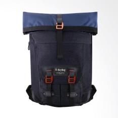 Tas Ransel Key Bag Korea Style 1002-18 Inchi - Blue Jeans Original