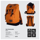 Harga Tas Ransel Kuliah Sekolah Backpack Laptop Pria Wanita Tas Punggung Travel Sekolah Ravre Travelers Bricks Orange Ravre Terbaik