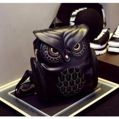 Harga Tas Ransel Kulit Wanita Model Cute Owl Black Satu Set