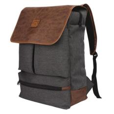 Jual Tas Ransel Laptop Bahan Canvas Rain Cover Catenzo Yd 036 Grey Import