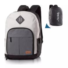 Tas Ransel Laptop INFIC Dark Grey - Pria & Wanita / Backpack Sekolah