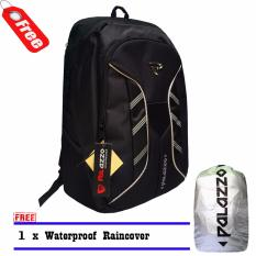 Tas Ransel Laptop Palazzo 300046 Backpack New Desain Mf Original Black + Raincover