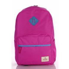 Tas Ransel Laptop Punggung Sekolah Backpack Anak Wanita FREE Rain Cover - HOJA VL4 Fuschia