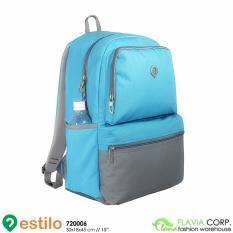 Jual Tas Ransel Laptop Wanita Free Raincover 720006 Biru Di Jawa Barat
