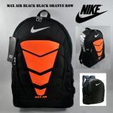 Jual Tas Ransel Nikel Max Air Sekolah Olahraga Kantor Black Oranye Murah