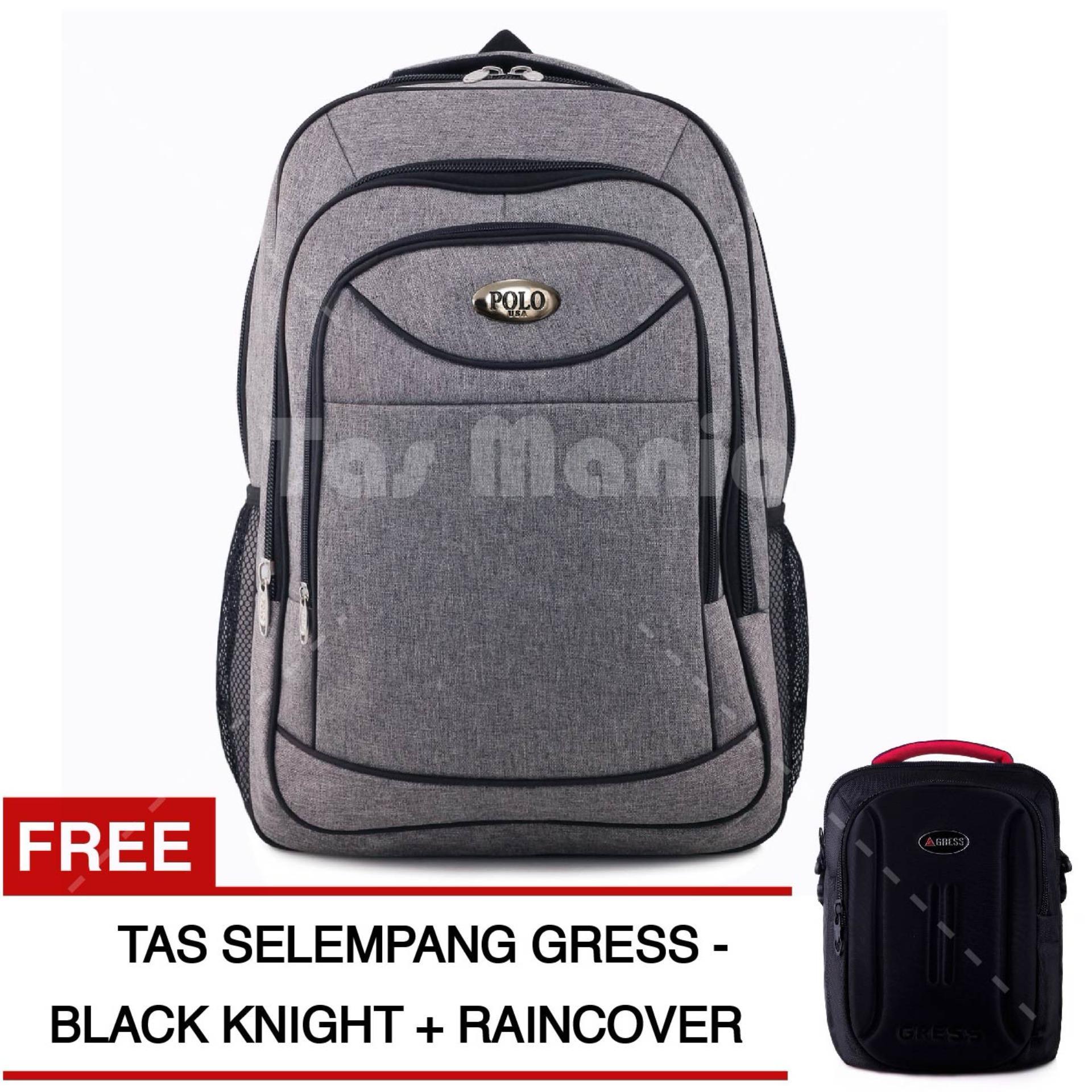 ... Tas Ransel Petal Premium CX-029 Tas Laptop Backpack - LIGHT GREY +  Raincover + f2e1bfa766