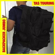 Jual Tas Ransel Pria Touring Tactical Hitam Jumbo H0156A Import