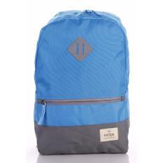 Diskon Tas Ransel Sekolah Backpack Punggung Laptop Free Rain Cover Hoja Vl1 Blue Hoja Di Jawa Barat