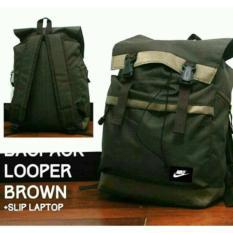 Spesifikasi Tas Ransel Sekolah Looper Tas Backpack Ransel Cowok Cewek Looper Brown