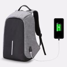 Promo Tas Ransel Unisex Backpack Bag Anti Theft Tas Punggung Laptop Anti Maling Grey Oem Terbaru