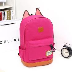 Tas Ransel Wanita Kanvas Backpack Kuping Kucing/ Tas Ransel Lucu Hot Sale