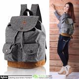 Beli Tas Ransel Wanita Mini Backpack Vintage Sam 392 Gray Kredit Jawa Barat
