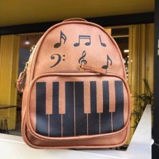 Harga Tas Ransel Wanita Modif Piano Musical Fashion Coklat Yang Bagus