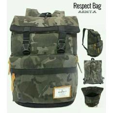Tas Ransel/Backpack Murah Pria Respect Bag Loreng (7M4T7S5-Ss) Kanvas - Pkciyj