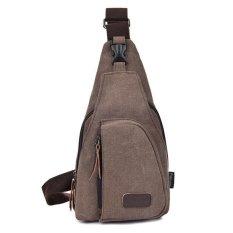 Tas Pria Import Batam Branded Model Terbaru Sandang Kanvas Messenger Bag Pria Men - Cokelat