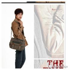 Harga Tas Sandang Pria Shoulder Bag Tas Selempang Army Green Satu Set