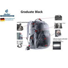 Tas Sekolah Deuter Graduate Black Dengan Laptop Compartment Sale - 3C55ba