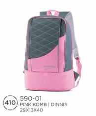 Tas Sekolah Smp Sma-Backapack Ransel Pink Abu-Tas Anak Murah Az Distro