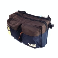 Tas Selempang Bahu Hip Bag Distro Waistpack Waistbag Navy Brown Distro Diskon 40
