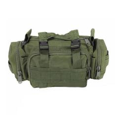 Silver Knight Tas Selempang dan Jinjing Militer Army Tactical Sling Bag or Waist Pack for Military & Travel - Green Army