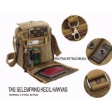 Jual Tas Selempang Kanvas Pria Sling Bag Vintage Sm 333 Brown Murah Di Dki Jakarta