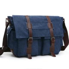 Tas Selempang Kanvas Zou Lun Duo 8168 [Biru] - Tas Laptop - Tas Pria - Tas Wanita - Import - Messanger Bag