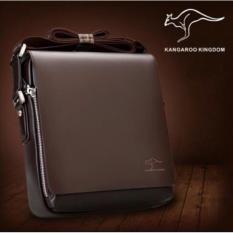 Beli Tas Selempang Kulit Pria Import Premium High Quality Vertical Kangaroo Kingdom Size L Dengan Kartu Kredit