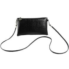 Tas Selempang Mini Sling Bag Wanita Motif Crocodile - Hitam
