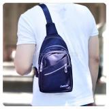 Toko Tas Selempang Pria Kualitas Import Unisex Tas Punggung Slempang Sling Bag Fs Tb 9781 Dark Blue Online Jawa Barat