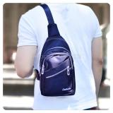 Toko Tas Selempang Pria Kualitas Import Unisex Tas Punggung Slempang Sling Bag Fs Tb 9781 Dark Blue Dekat Sini
