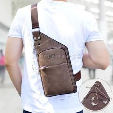 Ulasan Tas Selempang Pria Kulit Sintetis High Quality Tas Punggung Slempang Sling Bag Import Jpd 1206 Coffe