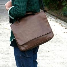 Tas selempang pria laptop charger legend warna coklat dan hitam kantor dinas kerja kampus