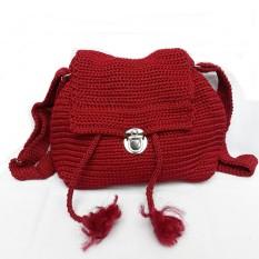 Harga Tas Selempang Rajut Polos Merah Maroon Yang Murah Dan Bagus