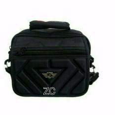Toko Tas Selempang Pria Santer Polo Series Dz012 Zv Size M Black Santer Online