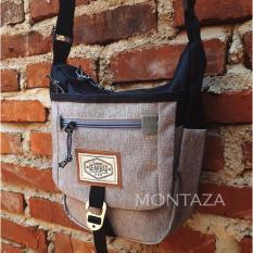 Jual Tas Selempang Sling Bag Unisex Premium Quality Gear 13056 Abu Branded Original