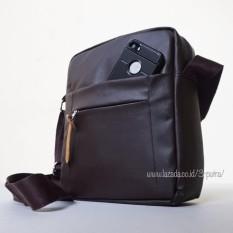 Tips Beli Tas Selempang Tas Slempang Kanvas Sling Bag Tas Bahu Tas Slempang Cowok Tas Murah 3P Leather Sling Bag Brown Yang Bagus