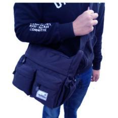 Tas Selempang Pria Buffers Sports Tas Selempang Wanita Shoulder Bag Cordura  LLC777 - Dark Blue - 669a5e0c6a