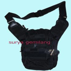 Jual Tas Slempang Army Us 803 Kwalitas 1 High Quality Original Multi Runsell Resleting Hitam Original