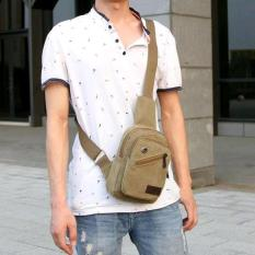 TAS SLEMPANG IMPOR KOREAN MEN SLING BAG KANVAS BAHU DADA