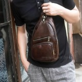 Review Tas Slempang Import Import Messenger Bags Import Sling Bags Canvas Fashion 3P New Leather Sling Bag Brown Indonesia