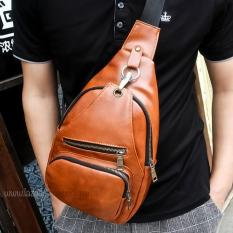 Spesifikasi Tas Slempang Import Import Messenger Bags Import Sling Bags Canvas Fashion 3P New Leather Sling Bag Light Brown Baru