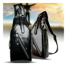 Beli Tas Slempang Kulit Sling Bag Import Cs Tl 01Bl Black Online Terpercaya