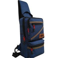 Jual Tas Selempang Sling Bag Fashion Design Series Llc555 Polyester Kanvas Dark Blue No Brand Branded