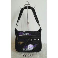 Spesifikasi Tas Slempang Polo Power 90253 12 Inchi Black Lengkap Dengan Harga