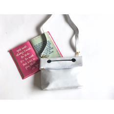 tas slempang wanita baymax tekuk putih