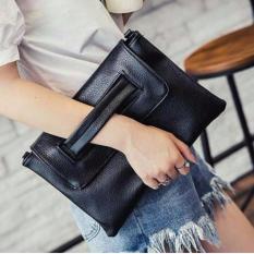 tas slempang wanita kotak handle hitam