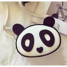 tas slempang wanita panda putih