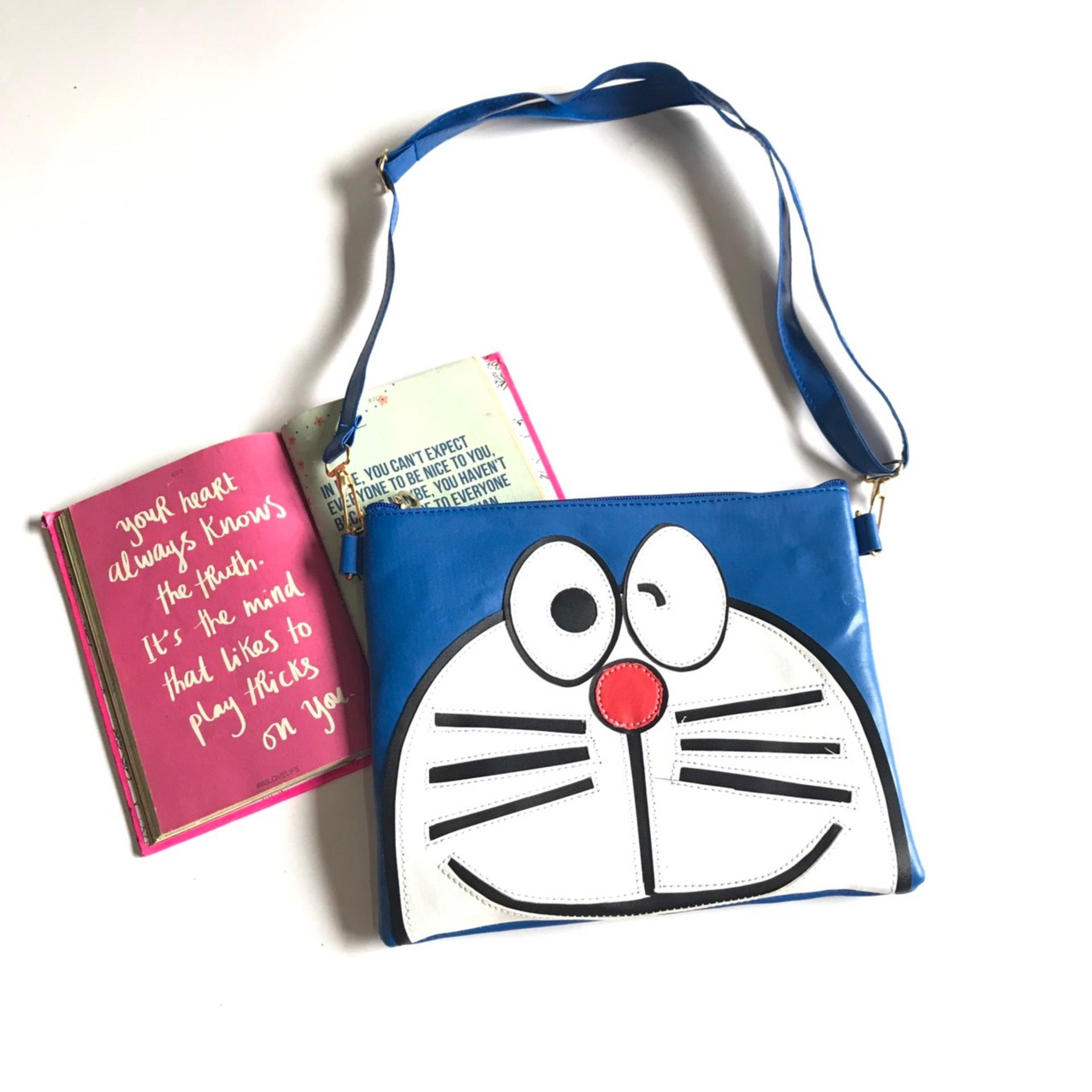 *non leather tas slempang wanita vielin doraemon 02